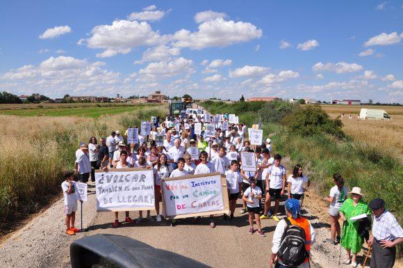 Manifestación para el arreglo de la carretera