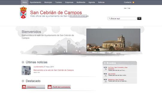 Bienvenidos a la web de San Cebrián de Campos